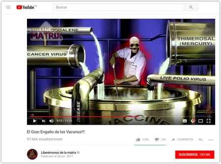 El Gran Engano De Las Vacunas Youtube Google Chrome 2018 01 31 16 33 01