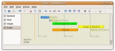 Calizo: organizador de tareas y calendario con una visión lineal del tiempo