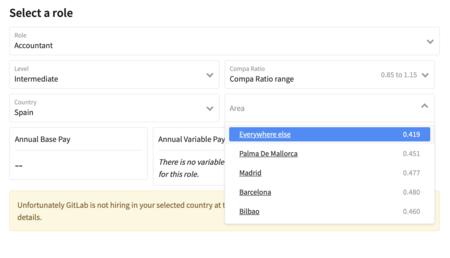 Calculadora salarial de Gitlab.