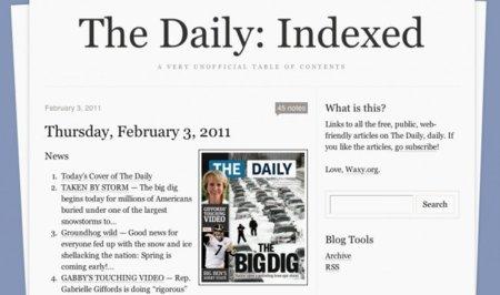 The Daily Indexed: una forma de leer los artículos del nuevo periódico a través del navegador