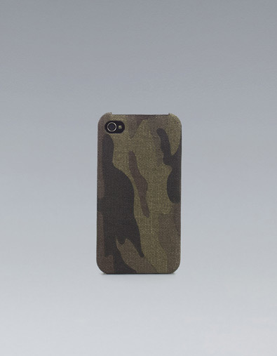 Funda para el iPhone camuflaje de Zara