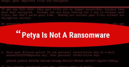 Petya Ransomware Wiper Malware