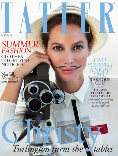 El ataque de las supermodelos parte II. Christy Turlington para Tatler