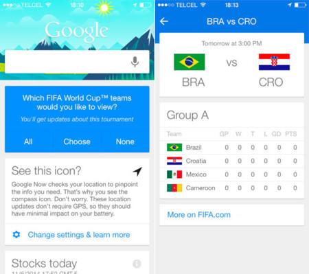 Google se suma a la fiesta del fútbol actualizando su aplicación para iOS