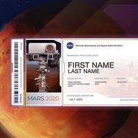 Éstas son las tarjetas de embarque viajarán a Marte y son más de ocho millones