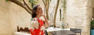 Tamara Falcó luce el perfecto vestido de invitada de boda