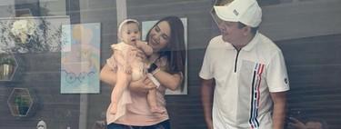 Los padres pueden presentar su bebé a la familia dentro de una cabina desinfectada: una buena idea en tiempos de coronavirus