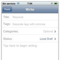 Wordpress for iPhone, blogea desde el teléfono