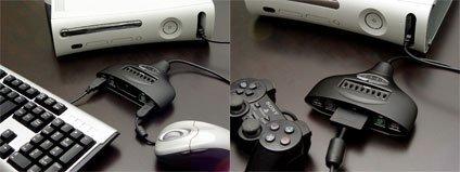 Xbox 360: adaptador para usar ratón y teclado