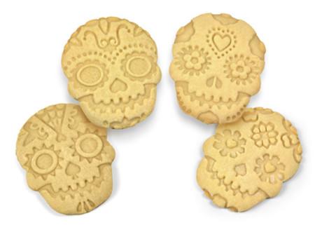 cortadores / sellos de galletas con forma de calavera