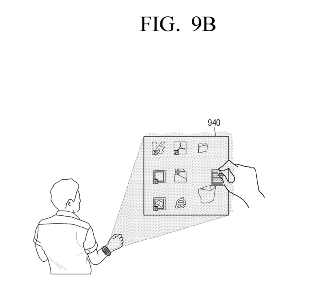 Samsung Patent Numpad Projection Hand 6