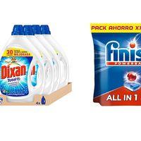 Oferta del día de Amazon en packs ahorro de limpieza en artículos Dixan y Finish