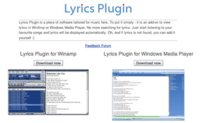 Lyrics plug-in en dos sabores: Windows Media Player y Winamp
