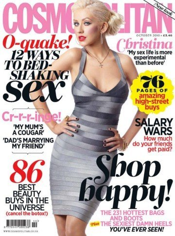 Christina Aguilera en Cosmopolitan UK