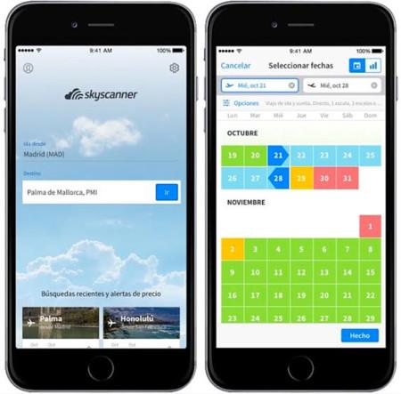 Un 'termómetro' de precios y más, la app de Skyscanner se actualiza con múltiples novedades