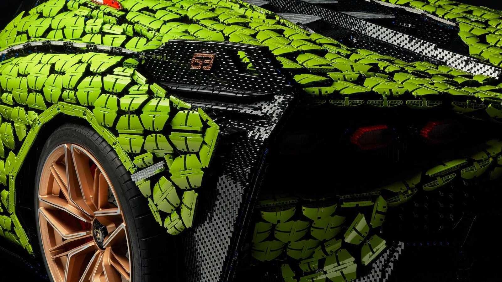 Foto de Lamborghini Sián Lego replica tamaño real (8/18)
