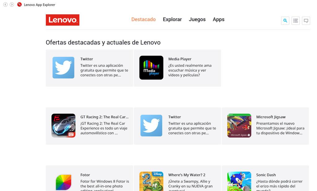 Lenovo App Explorer