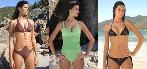 Bikini, triquini y bañador