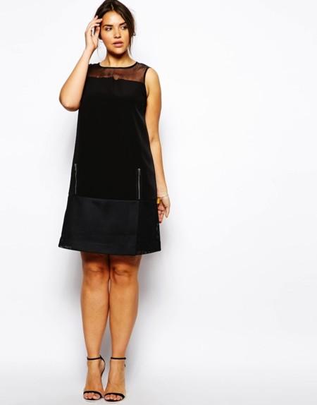 91587e93bcb Vestido negro de Asos Curve Ver original