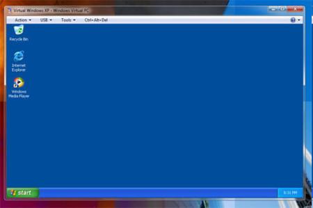 Windows XP Mode en una ventana