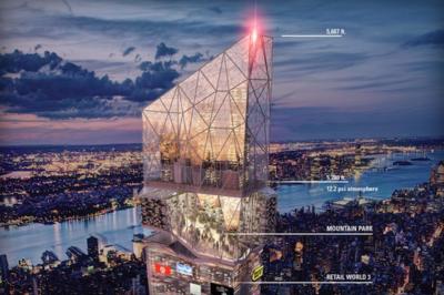 'Times Squared 3015', el imponente rascacielos de 1733 metros con ciudad integrada