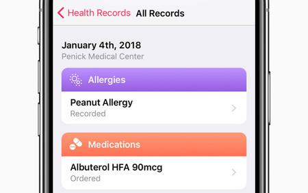 historial médio iPhone salud
