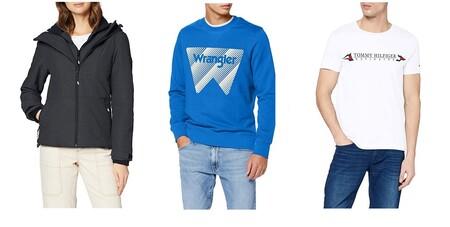 11 chollos en tallas sueltas de ropa de marcas como Superdry, Tommy Hilfiger o Wrangler en Amazon