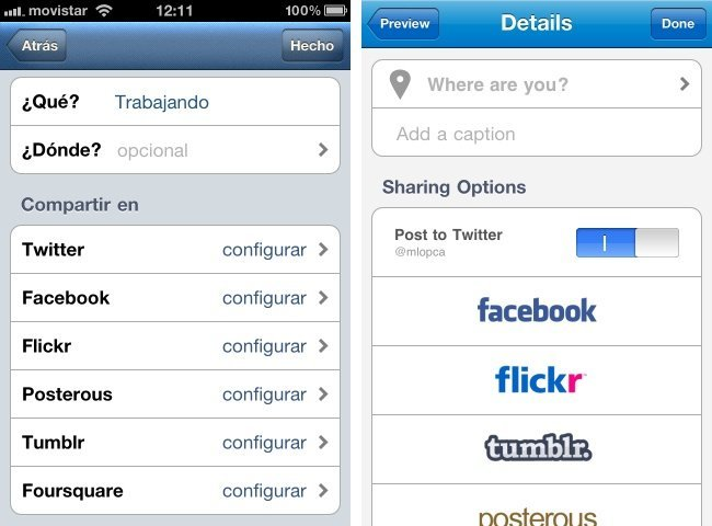 instagram picplz compartir interfaz iphone