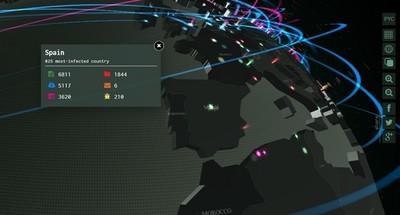 Observa el malware en el mundo en tiempo real con este bonito mapa 3D