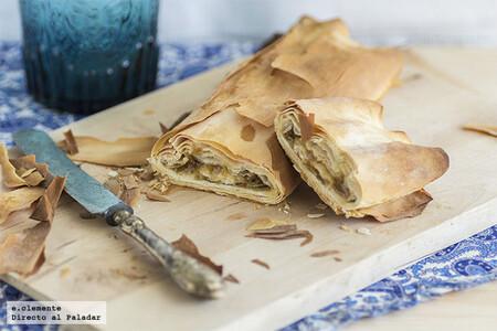 Baklava con queso de cabra y confitura de higos, una deliciosa receta de contrastes dulces y salados