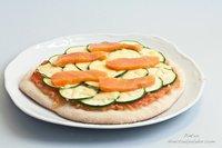 Receta de pizza de calabacín y salmón ahumado