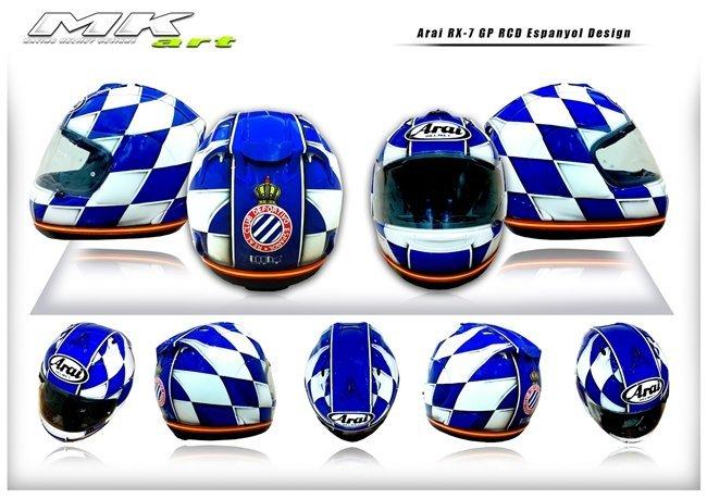 Casco diseño MK Art