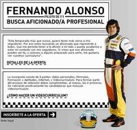 Curiosa oferta de empleo: Fernando Alonso te está buscando