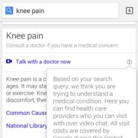 Cuando busques sobre enfermedades o lesiones, Google te pondrá en contacto con médicos