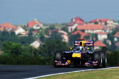 Red Bull domina el viernes en Hungaroring