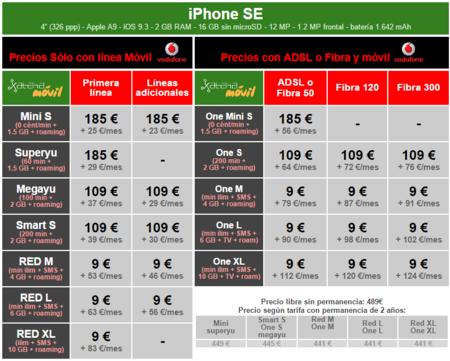 Precios Iphone Se Con Tarifas Vodafone