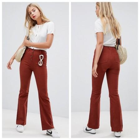 Pantalones Campana Pana Teja