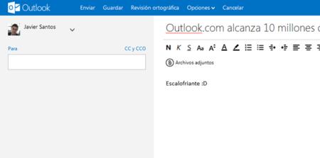 Outlook.com alcanza la escalofriante cifra de 10 millones de usuarios en solo dos semanas