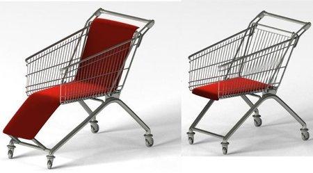 Recicladecoración: carros de la compra que ahora son asientos