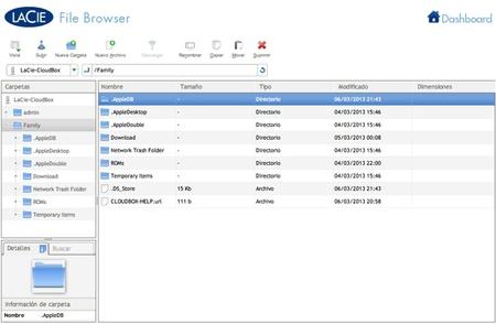 Navegador de archivos
