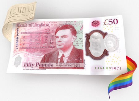 """El nuevo billete de 50 libras del Reino Unido no solo """"es de plástico"""": será más difícil de falsificar y es todo un homenaje a Alan Turing"""