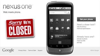 Google dejará de vender Nexus One en su tienda online, fracasa en su intento de revolucionar el mercado