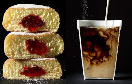 Sugerentes fotografías de comidas partidas por la mitad
