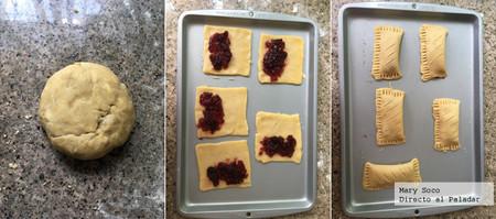 Empanadas rellenas de Arandanos. Receta de pan dulce