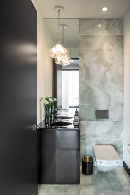 One57 Luxury Condo Marble Bathroom 1