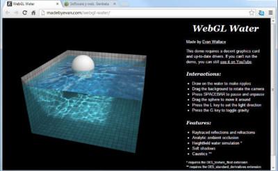 WebGL Water. La imagen de la semana