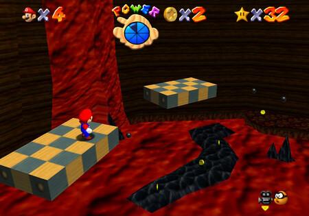 Super Mario 64: cómo conseguir la estrella Elevate Tour in the Volcano de Lethal Lava Land