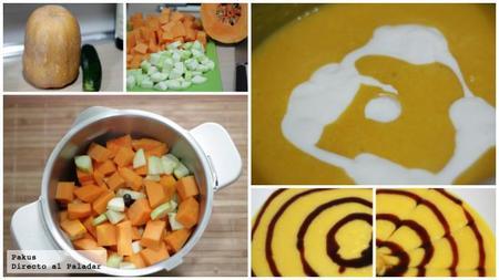 Crema Calabaza Halloween Pasos