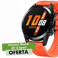 Más barato todavía: el Huawei Watch GT 2 Sport en su versión deportiva naranja, ahora en AliExpress Plaza por sólo 117 euros