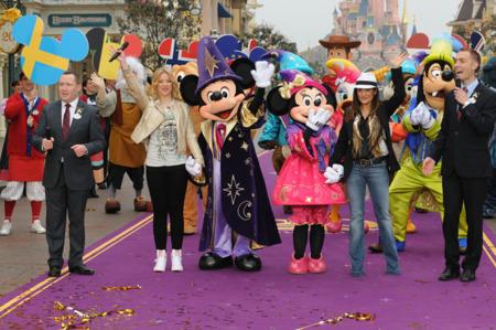 Salma Hayek en Disneyland Paris